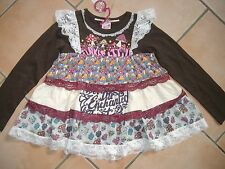 (150) Nolita Pocket Girls Materialmix Shirt mit Logo Druck Volants Spitze gr.92
