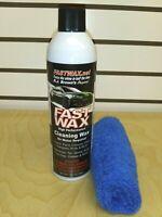 FASTWAX WASH & WAX WATERLESS DETAIL CLEANING Tar Dirt Bugs 1 Can +1 MICRO TOWEL