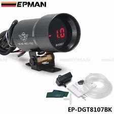 37mm Smoke Turbo Boost BAR Red Digital Shift Light Style Gauge Meter Pod Red LED
