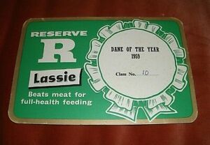 """GREAT DANE DOG BREED. 1959 """"DANE OF THE YEAR"""" CERTIFICATE."""
