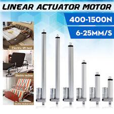 2''-20'' Inch 400N-1500N 6-25mm/s Stroke Linear Actuator Lift 12V Volt DC