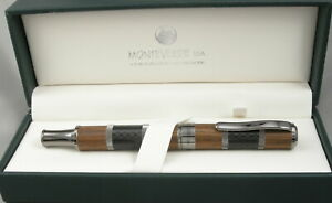 Monteverde Regatta Explorers Wood & Carbon Fiber Rollerball Pen - New