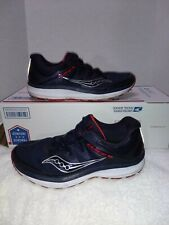 Saucony Guide ISO Running Shoes, Men's Size 9.5, Blue/Red