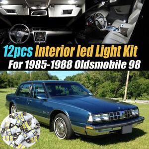 12Pc Super White Car Interior LED Light Bulb Kit for 1985-1988 Oldsmobile 98