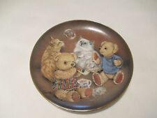 """Franklin Mint Heirloom Bubble Buddies Bears &  00004000 Cats 8"""" Plate by Sue Willis"""