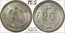 Mexico 1905-M 20 Centavos KM#435  PCGS AU58  Nice Bright Luster