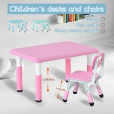 Children's Combined Study Table Plastic Work Table Can Be Raised And Lowered