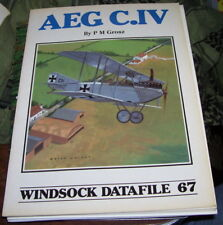 AEG C.IV Windsock Datafile No.67  1/72 1/48 Drawings Markings Color RARE OOP