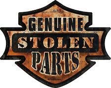 """ProSticker 743 (One) 4"""" Hot Rod Rat Rod Genuine Stolen Parts Decal Sticker"""