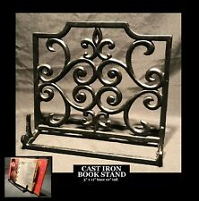 Cast Iron Music rack book stand easel display decorative ornate book holder