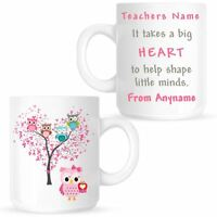 Personalised Thank You Teacher Mug End of Term Present Leaving Gift