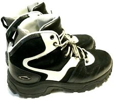 RARE OAKLEY FIELD GEAR BOOTS Men's Size 10 Black & White Waterproof Hiking Shoes