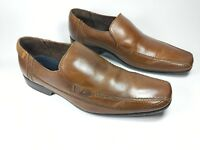 M & S Autograph brown leather slip on shoes uk 9 eu 43