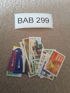 Nauru Bulk Collection 26 Different Stamps Lot FV$7.40 BAB299