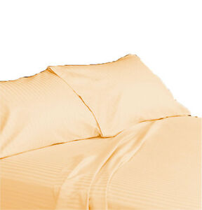 Striped Pillowcases Pair 100% Egyptian Cotton 800 Thread Count All Sizes & Color