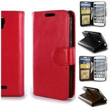 For ALCATEL One Touch Pixi Charm Wallet Case Card Cover + Screen Protector