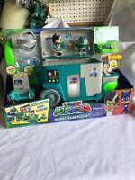 Romeo's Lab Playset, Secret Lair w Crane, Mad Scientist Toy, Robot Figure, Truck