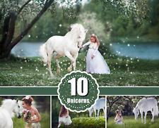 10 Majestic unicorn horse overlays, realistic animal, Photoshop overlay, png