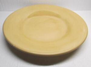 """POTTERY BARN Sausalito 12"""" AMBER Yellow Gold DINNER PLATE - EXCELLENT CONDITION"""