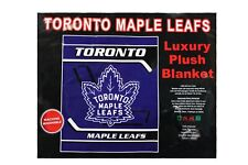 "Toronto Maple Leafs New Nhl Hockey Logo Luxury Plush Blanket Bedspread 79""X94""."