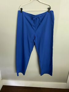 Adar Medical Nursing Uniform Multi Pocket Scrub Pants Caribbean Blue Size XL (O1