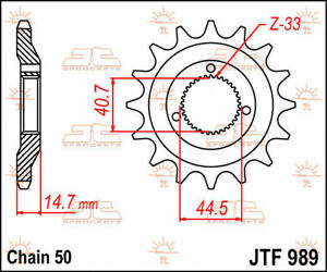 Jtf989.21 front replacement sprocket 21 teeth 530 pitch natural chromoly stee...