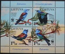 WWF birds stamp sheet, 2008, Lithuania, 4 stamp set, mint, never hinged