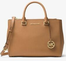 MICHAEL Michael Kors Kellen Saffiano Leather Satchel Bag Acorn Handbag AUTHENTIC