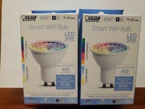 (2) LED SMART WIFI MR16GU10 CC 50W 400 LUMENS