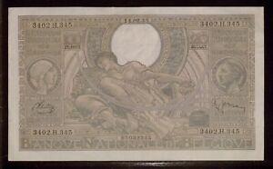 1942 Belgium 100 Francs = 20 Belgas   F   Banque Nationale De Belgique