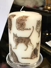La mia preferita CATS HAND Decorated pilastro candela 50hrs 10x6.5cm