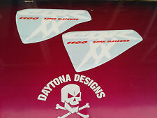 CBR XX 1100 SIDE FAIRING CUSTOM PAIR WHITE & RED GRAPHICS DECALS STICKERS