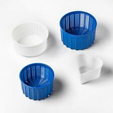 Universal set of 4 cheese molds for making cheese at home