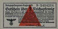 Currency Germany 1944 WW2 POW Lagergeld Camp Money 1 Reichspfennig Uncirculated