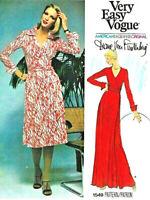 """1976 Vintage VOGUE Sewing Pattern WRAP DRESS B36"""" (1890) Diane Von Furstenberg"""