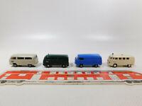 CK851-0,5# 4x Brekina H0/1:87 Volkswagen VW T1 Bulli/T2: DB+Polizei+DRK etc, TOP