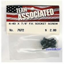 """Team Associated Flat Head Socket Screw 4-40 x 7/8"""" (6) 7672 RC10T"""