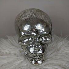 Light Up Glass Skull - LED Lights - Halloween Decoration