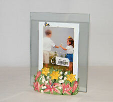 New Carr 3.5 x 5 Floral Bumble Bee. Table Top Photo Frame . with Defect by Bee
