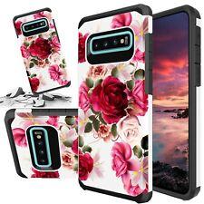 Red Floral Case For Galaxy Note 10 9 8 5 4 S6 S7 S8 S9 S10e S20 Ultra S10 Plus
