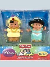 Fisher Price Little People Disney Princess Jasmine and Aladdin Prince 2012 NEW
