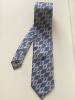 GIORGIO ARMANI Blue Patterned Tie - 9cm Width - 100% Silk - Made in Italy
