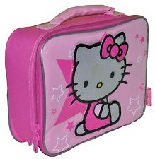 HELLO KITTY PINK STAR INSULATED TOTE LUNCH BAG NEW