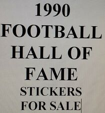 1990 FOOTBALL HALL OF FAME FOOTBALL stickers for sale