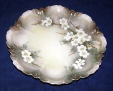 RS Germany Prussia Iridescent Floral Gold Cabinet Plate Reinhold Schlegelmilch