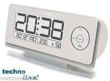 Techno Line Funkwecker mit LCD Display und Lichtsensor, dimmt automatisch