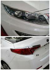 ABS Chrome Front + Rear light lamp cover trim for Kia Optima K5 2011 2012 2013
