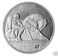 LATVIA 2012 Karlis Zale sculptor 1 Lats Silver coin rider,horse,last lats isuse