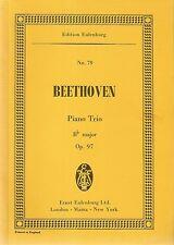 "Ludwig Van Beethoven Piano Trio (""Archduke"") Bb major Op.97 pub Eulenburg No.79"