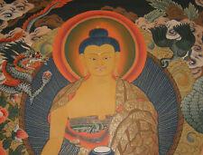 Sehr feines MASTERPIECE Thangka Shakyamuni Buddha aus NEPAL 72x53cm